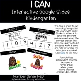 I CAN Count 1-10 Google Interactive Math Slides for Kindergarten