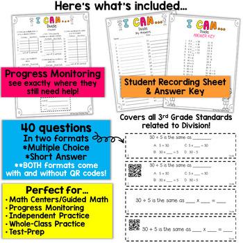 3rd Grade Division Game | 3rd Grade Math Centers