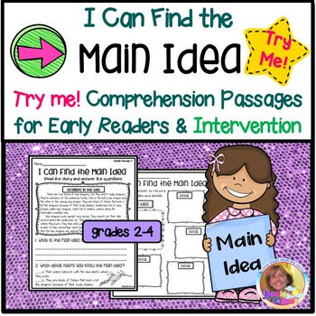 I CAN FIND THE MAIN IDEA: Comprehension Passages for Early Readers Try Me Pack