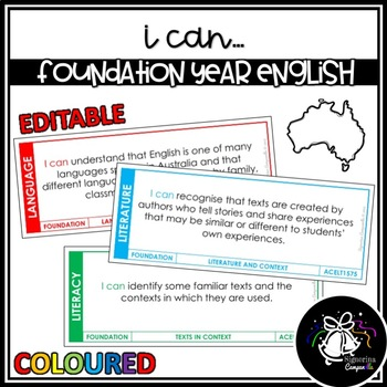 I CAN | FOUNDATION YEAR ENGLISH (COLOURED)