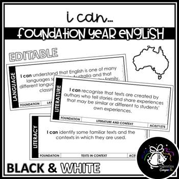 I CAN | FOUNDATION YEAR ENGLISH (B&W)