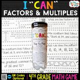 4th Grade Factors & Multiples Game 4th Grade Math Centers