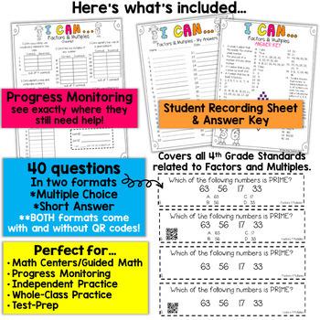 4th Grade Factors & Multiples Game