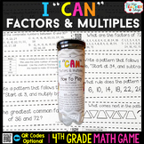 4th Grade Factors and Multiples Game | 4th Grade Math Centers