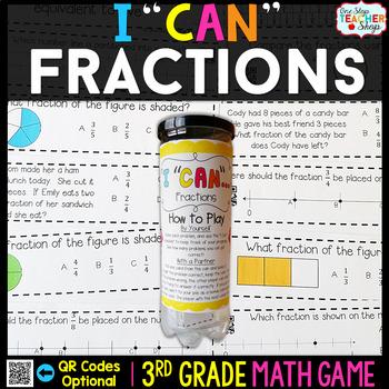 3rd Grade Fractions Game | 3rd Grade Math Centers