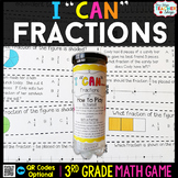 3rd Grade Fractions Game - 3rd Grade Math Game for Math Centers