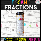 4th Grade Fractions Game 4th Grade Math Centers {I CAN Mat