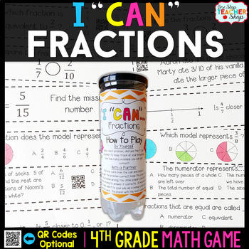 4th Grade Fractions Game | 4th Grade Math Centers