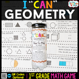 1st Grade Geometry Game | Shape Attributes, Partitioning Shapes, and MORE
