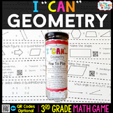 3rd Grade Geometry Game | Lines, Angles, Quadrilaterals, & Partitioning Shapes