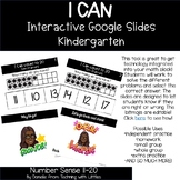 I CAN Count 11-20 Google Interactive Math Slides for Kindergarten