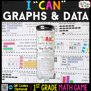 1st Grade Graphs and Data Game - 1st Grade Math Game for M