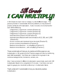 I CAN MULTIPLY! 5th Grade - Practice with fractions/decimals/whole numbers 17pgs