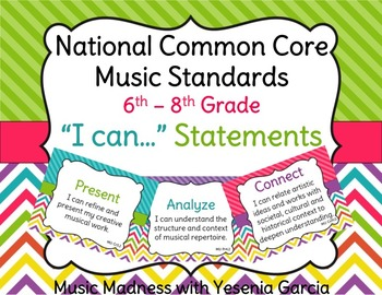I CAN MUSIC STATEMENTS - Common Core Standards