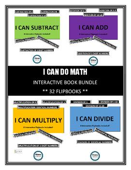 I CAN...Math Equations INTERACTIVE FLIPBOOK BUNDLE (32 FLIPBOOKS!)