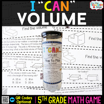 5th Grade Volume Game - 5th Grade Math Game for Math Centers