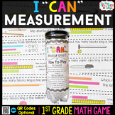 1st Grade Measurement Game | 1st Grade Math Centers