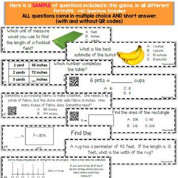 4th Grade Measurement Game   4th Grade Math Centers