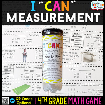 4th Grade Measurement Game - 4th Grade Math Game for Math Centers
