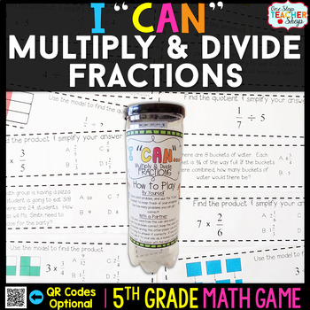 5th Grade Multiplying and Dividing Fractions Game | 5th Grade Math Centers