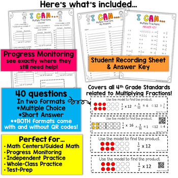4th Grade Multiplying Fractions by Whole Numbers Game