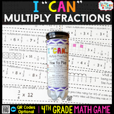 4th Grade Multiplying Fractions by Whole Numbers Game | 4t