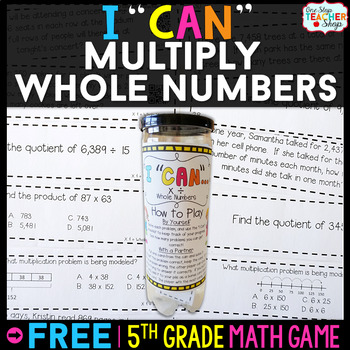 5th Grade Multiplication Game FREE | I CAN Math Games
