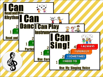 I CAN Music Statements: Sing, Dance, Instruments, Rhythms -preview has a FREEBIE