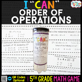 5th Grade Order of Operations Game 5th Grade Math Centers