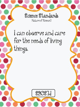 """""""I CAN"""" POSTERS 2ND GRADE SCIENCE - GEORGIA PERFORMANCE STANDARDS"""