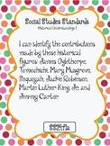 """I CAN"" POSTERS 2ND GRADE SOCIAL STUDIES- GEORGIA PERFORMA"