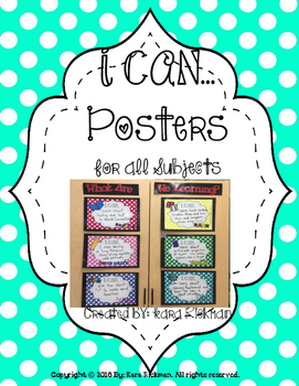 I CAN POSTERS: For All Subjects