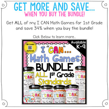 1st Grade Place Value Game | 1st Grade Math Centers