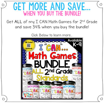2nd Grade Place Value Game | 2nd Grade Math Centers