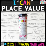 4th Grade Place Value Game | 4th Grade Math Centers