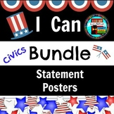 Civics, Government, US History I CAN Posters Bundle