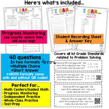 1st Grade Problem Solving Game 1st Grade Math Centers } I CAN Math Games