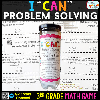 3rd Grade Problem Solving and Data Game - 3rd Grade Math G