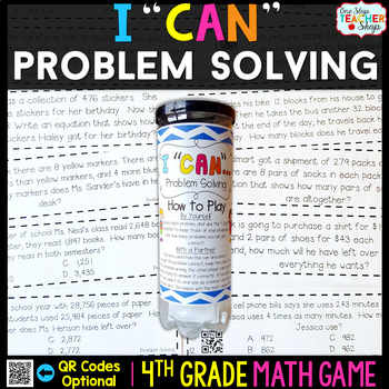 4th Grade Problem Solving Game | 4th Grade Math Centers