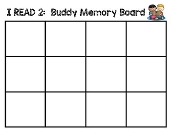 I CAN READ 2: Buddy Memory Board FREEBIE CVC