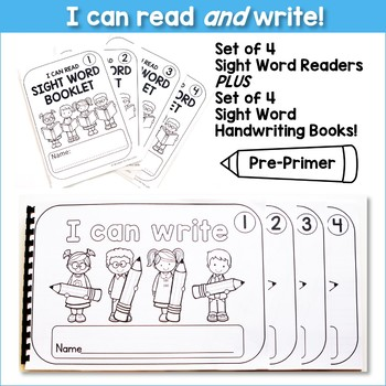 I CAN READ AND WRITE BUNDLE - Pre-Primer