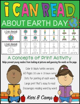 I CAN READ! About Earth Day {A Concepts of Print Activity}