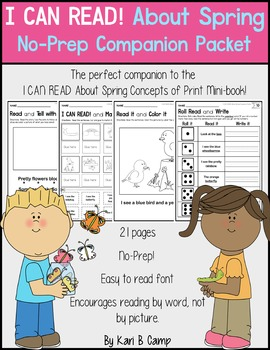I CAN READ! About Spring No-Prep Companion Packet