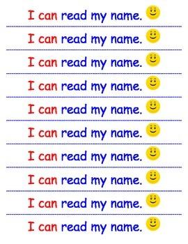 I CAN READ MY NAME award strip