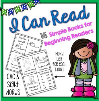 I CAN READ - Sight Words & CVC Emergent Reader Book Set