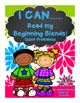 I CAN.. Read Beginning Blends!