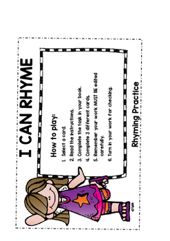 I CAN Rhyme - Rhyming Activity - Daily 5