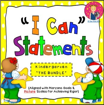 I CAN STATEMENTS BUNDLE FOR KINDERGARTEN