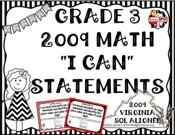 I CAN STATEMENTS VIRGINIA SOL MATH GRADE 3