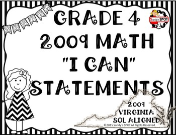 I CAN STATEMENTS VIRGINIA 2009 SOL MATH GRADE 4